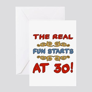 Real Fun 30th Birthday Greeting Card
