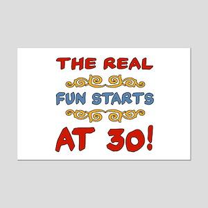 Real Fun 30th Birthday Mini Poster Print