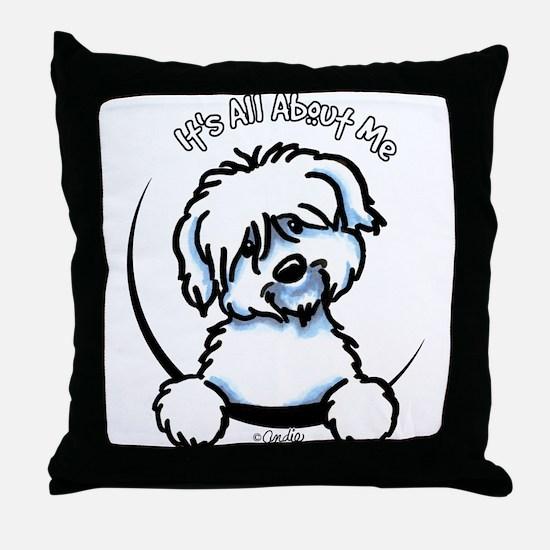 Coton de Tulear IAAM Throw Pillow