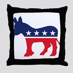 Democrat Donkey Throw Pillow