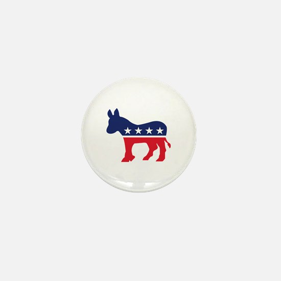 Democrat Donkey Mini Button