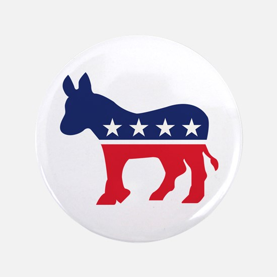 "Democrat Donkey 3.5"" Button"