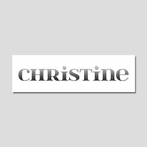 Christine Carved Metal 10x3 Car Magnet