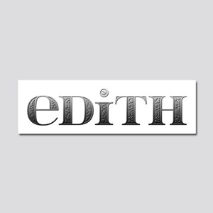 Edith Carved Metal 10x3 Car Magnet