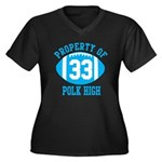 Property of Polk High Women's Plus Size V-Neck Dar