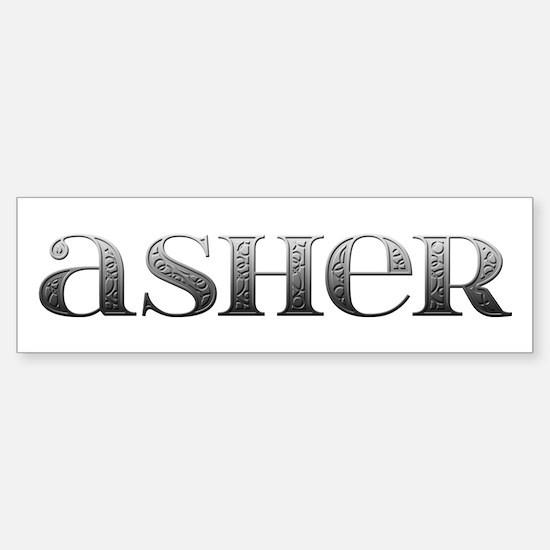 Asher Carved Metal Bumper Bumper Bumper Sticker