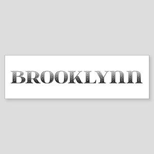 Brooklynn Carved Metal Bumper Sticker