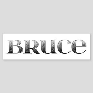 Bruce Carved Metal Bumper Sticker