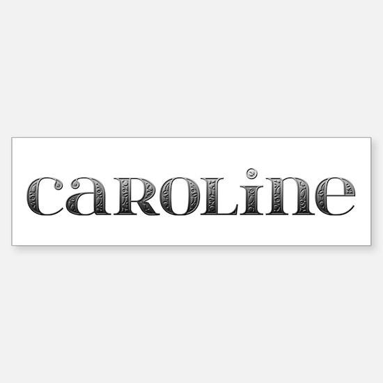 Caroline Carved Metal Bumper Car Car Sticker