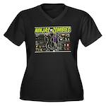 Ninjas vs. Zombies Women's Plus Size V-Neck Dark T