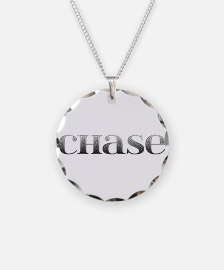 Chase Carved Metal Necklace