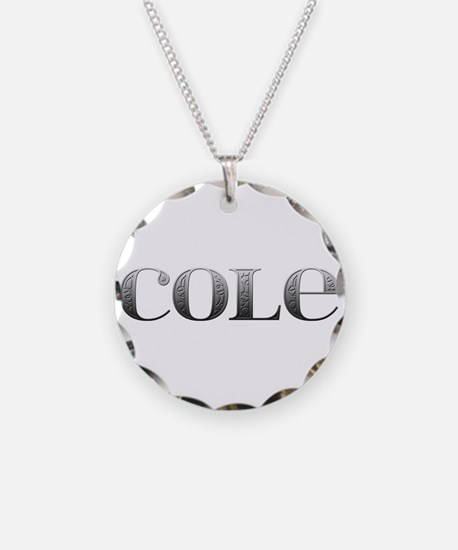 Cole Carved Metal Necklace
