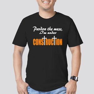 Christian under construction Men's Fitted T-Shirt