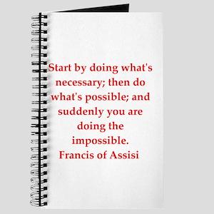 Saint Francis of Assisi Journal
