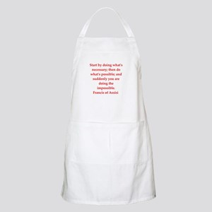 Saint Francis of Assisi Apron