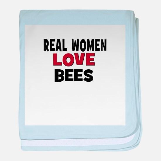 Real Women Love Bees baby blanket