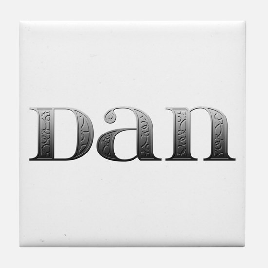 Dan Carved Metal Tile Coaster