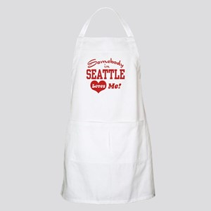 Somebody in Seattle Loves Me BBQ Apron