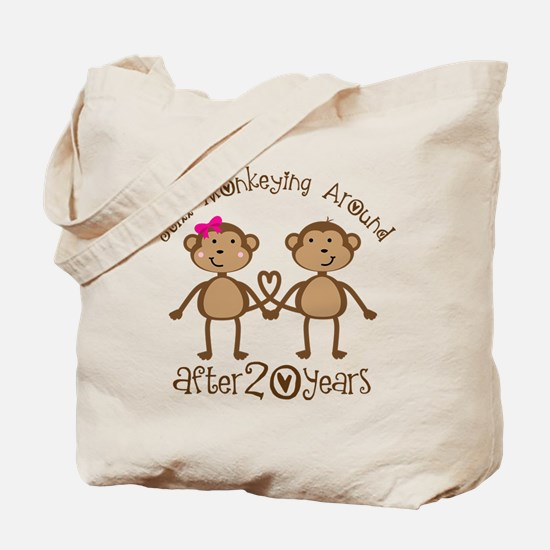 20th Anniversary Love Monkeys Tote Bag