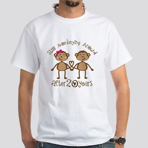 20th Anniversary Love Monkeys White T-Shirt