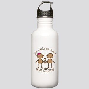25th Anniversary Love Monkeys Stainless Water Bott
