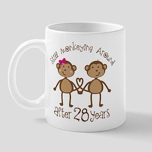 28th Anniversary Love Monkeys Mug
