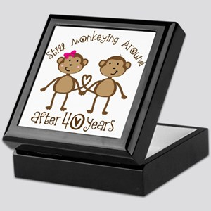 40th Anniversary Love Monkeys Keepsake Box