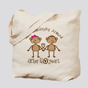 40th Anniversary Love Monkeys Tote Bag