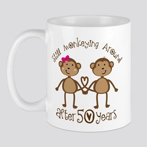 50th Anniversary Love Monkeys Mug