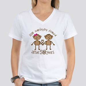 50th Anniversary Love Monkeys Women's V-Neck T-Shi
