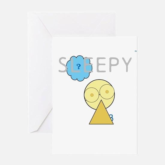 OYOOS Sleepy design Greeting Card