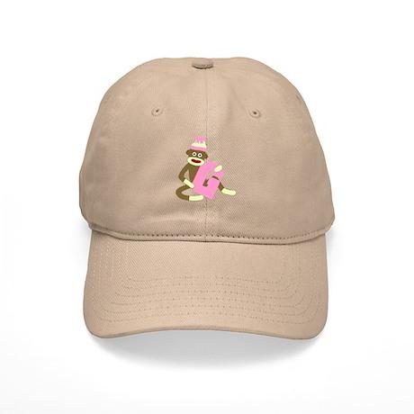 Sock Monkey Monogram Girl G Cap