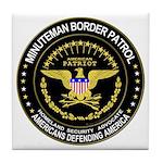 Immigrant Minuteman Border Pa Tile Coaster