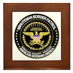 Immigrant Minuteman Border Pa Framed Tile