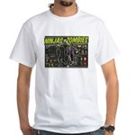 Ninjas vs. Zombies White T-Shirt