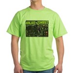 Ninjas vs. Zombies Green T-Shirt