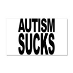 Autism Sucks Car Magnet 20 x 12