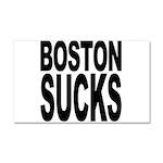 Boston Sucks Car Magnet 20 x 12