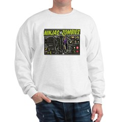 Ninjas vs. Zombies Sweatshirt