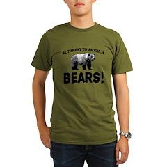 Bears Organic Men's T-Shirt (dark)