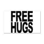 Free Hugs Car Magnet 20 x 12