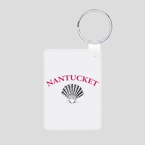 Nantucket Shell Aluminum Photo Keychain