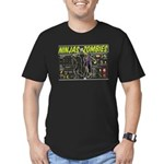 Ninjas vs. Zombies Men's Fitted T-Shirt (dark)