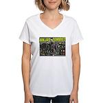 Ninjas vs. Zombies Women's V-Neck T-Shirt