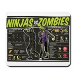Ninjas vs. Zombies Mousepad