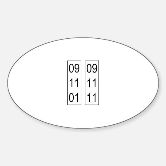 911_nyc_10 Sticker (Oval)