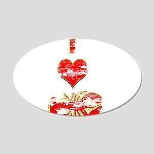 Vintage I heart Lobster 22x14 Oval Wall Peel