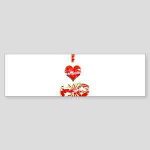 Vintage I heart Lobster Sticker (Bumper)