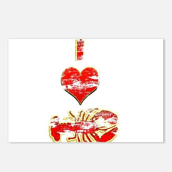 Vintage I heart Lobster Postcards (Package of 8)