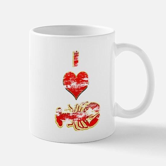 Vintage I heart Lobster Mug